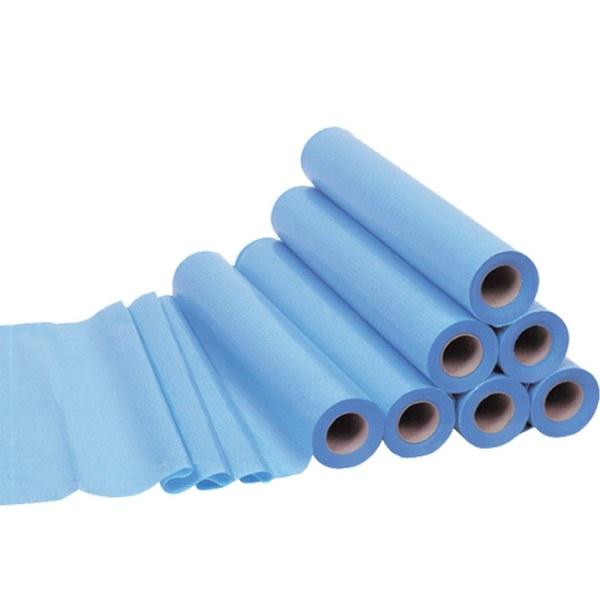 Draps d'examen plastifiés bleu ouate