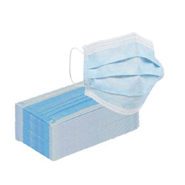 Masque chirurgical non stérile à usage unique bleu