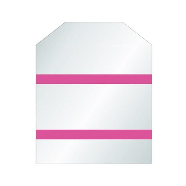 Pochettes transparentes bande adhésif sans rabat papier pour CD