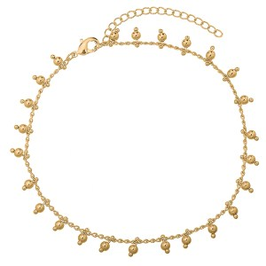 Anklet beads gold