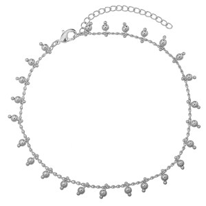 Anklet beads silver