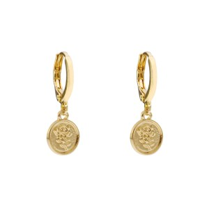 Earrings coin rose gold
