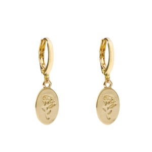 Earrings oval rose gold