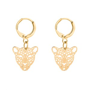 Earrings tiger gold