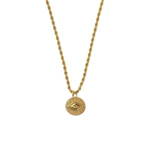 Necklace eye gold