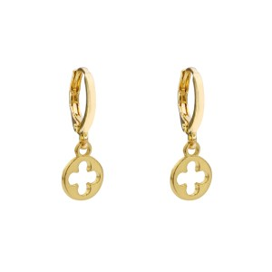 Earrings flower gold