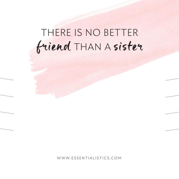 Jewellery card - There is no better friend than a sister