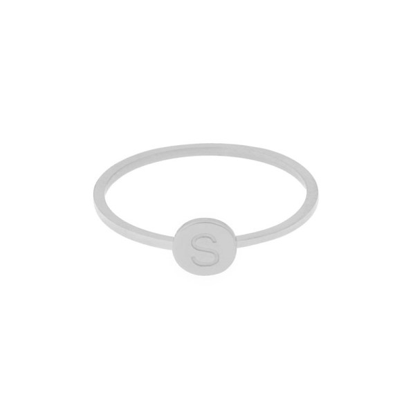 Ring initial silver