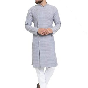 Jompers Men's Cotton Jacquard Kurta Payjama Set