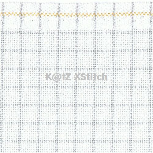 Zweigart Fat Quarter 25 Count White 'Easy Count' Lugana