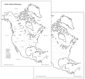 North America Waterways Control Maps & Masters