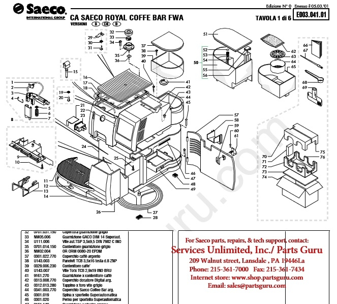 Saeco royal one touch cappuccino manual