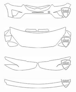 Passgenaues Frontschutz Set transparent 150µm für Mazda