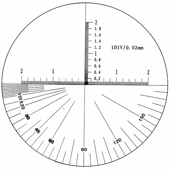 Precision tube microscope Reading 0.02 mm-MI-01005071