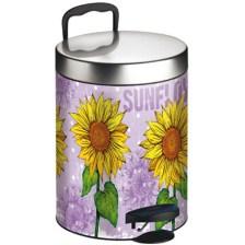 Meliconi 140055 Μεταλλικός Κάδος Απορριμμάτων 5lt Sun Flower