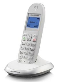 Ασύρματο Τηλέφωνο Motorola C2001W, Λευκό