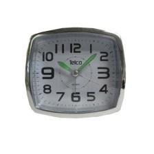 Επιτραπέζιο Αθόρυβο Ρολόι Telco 6119, Μαύρο/Χρωμίου