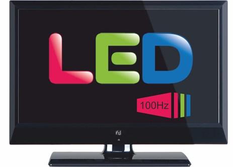Τηλεόραση LED 24 F&U FL24334 100Hz, Μαύρη