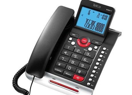 Επιτραπέζιο Δίγραμμο Τηλέφωνο Telco GCE 6211T Μαύρο