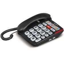 Ενσύρματη Τηλεφωνική Συσκευή με Μεγάλα Πλήκτρα Thomson TH-520FBLK