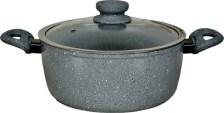 Κατσαρόλα Αλουμινίου Με Γυάλινο Καπάκι 4.1lt Zephyr Z-4418-CSI24C