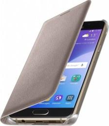 Θήκη Samsung Original Flip Wallet for Samsung Galaxy A3, Gold (EF-WA310PFEGWW)
