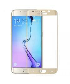 Προστασία Οθόνης Tempered Glass Άθραυστη 9H Full Face για Samsung Galaxy S6 Edge Plus G928 Gold