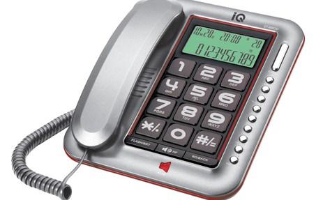 Επιτραπέζιο Τηλέφωνο με Αναγνώριση Κλήσης IQ DT-890CID Ασημί