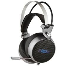 Gaming Headset με Retractable Μικρόφωνο Nod G-HDS-003 Γκρι