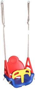 Κούνια Παιδική Πλαστικό Κάθισμα με Σχοινιά 361-2679