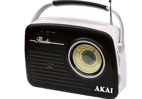Φορητό Ρετρό Ραδιόφωνο με USB/SD/Aux Akai APR-11B Μαύρο