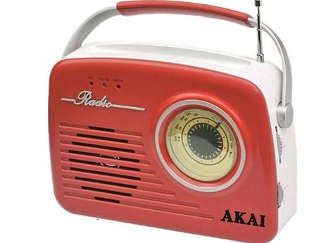 Φορητό Ρετρό Ραδιόφωνο με USB/SD/Aux Akai APR-11R Κόκκινο
