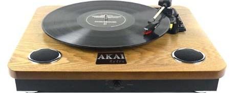 Ξύλινο Πικαπ με Ενσωματωμένα Ηχεία Akai ATT-09