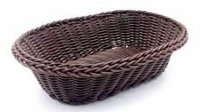 Καλάθι Οβάλ Rattan 24x16cm Σκούρο Καφέ Home&Style 7351112-120