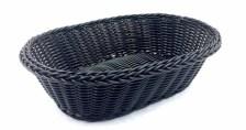 Καλάθι Οβάλ Rattan 24x16cm Μαύρο Home&Style 7351113-120