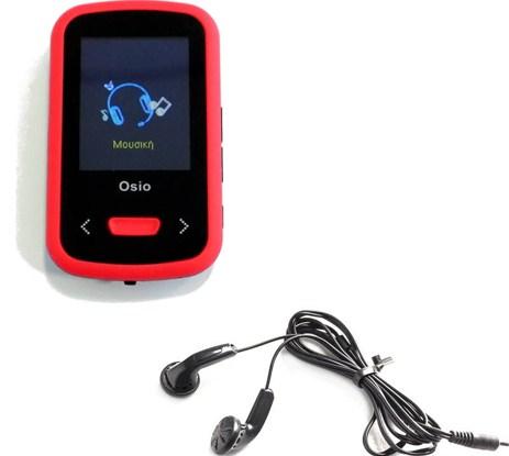 MP4 8GB Osio SRM-9280BR Κόκκινο