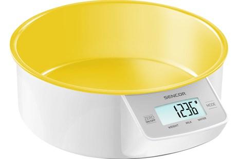 Ζυγαριά Κουζίνας με Μπωλ Sencor SKS 4004YL Κίτρινη