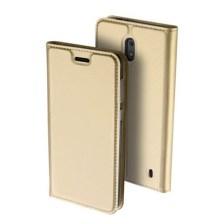 Θήκη Book KLD Skin Pro για Nokia 2 Χρυσή (0009094216)