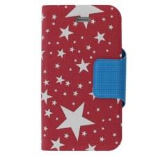 Θήκη Book Stars για Apple iPhone 4/4S Ροζ/Άσπρη Mjoy MJ10919