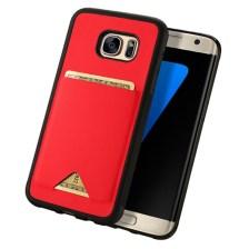 Θήκη KLD Pocard για Samsung G935 Galaxy S7 Edge Κόκκινη (KLDCARDS7EDGERD)