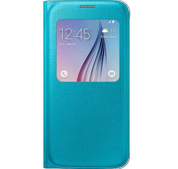 Θήκη Samsung S View για G920 Galaxy S6 Γαλάζια (EFCG920PLEGWW)