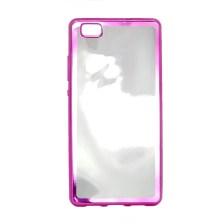 Θήκη TPU για Huawei P8 Lite Διάφανη με Ροζ Περιμετρικό Mjoy 0009093937