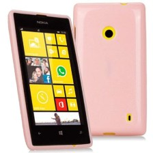 Θήκη TPU για Nokia Lumia 520 Ροζ Mjoy 0009090901