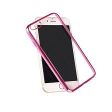 Θήκη TPU για Samsung G930 Galaxy S7 Διάφανη με Ροζ Περιμετρικό Mjoy 0009093835