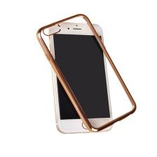 Θήκη TPU για Samsung G935 Galaxy S7 Edge Διάφανη με Χρυσό Περιμετρικό Mjoy 0009093841