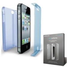 Θήκη X-doria για Apple iPhone 4/4S Defense 360 Μπλε Διάφανη (405744)