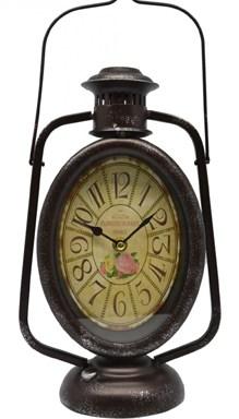 Ρολόι Μεταλλικό Επιτραπέζιο 18x12x38cm Φανός Θυέλης (764617)