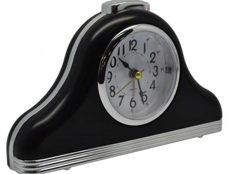 Ρολόι-Ξυπνητήρι 772438 Μαύρο-Ασημί