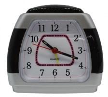 Ρολόι-Ξυπνητήρι 772391 Ασημί-Μαύρο