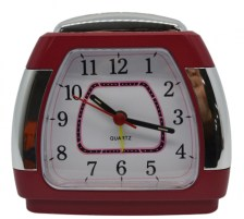 Ρολόι-Ξυπνητήρι 772407 Κόκκινο-Ασημί